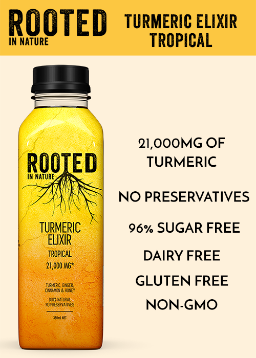 Rooted Turmeric Elixir Tropical Healthy Drinks