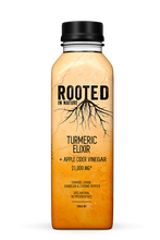 Load image into Gallery viewer, Rooted Turmeric Elixir + Apple Cider Vinegar (12 pack)