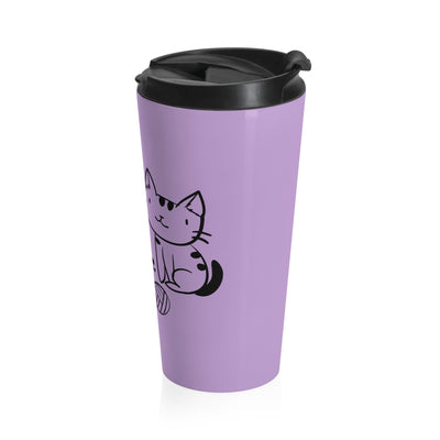 """Life Is Better With Cats"" Stainless Steel Travel Mug - bonboma"