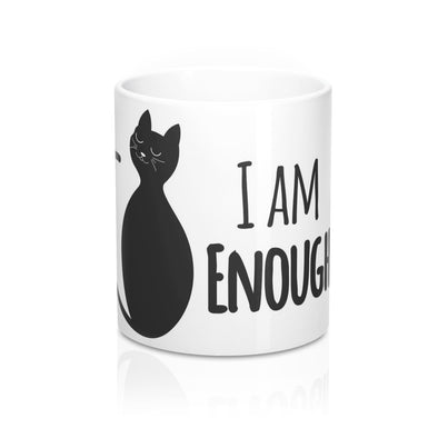 I Am Enough - White Mug 11oz - bonboma