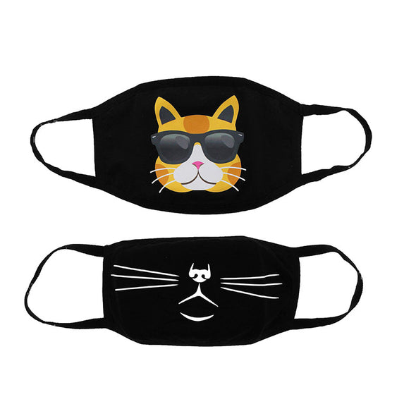2-Pack Cool Cat Face Masks