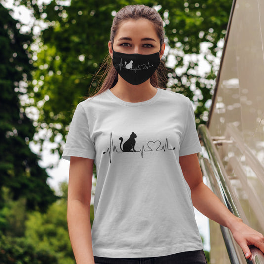 Cat Lifeline Tee & Face Mask Bundle