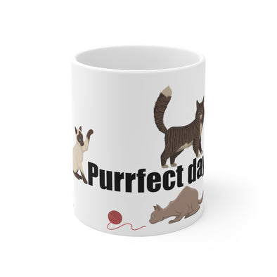 Purrfect Day - White Mug 11oz