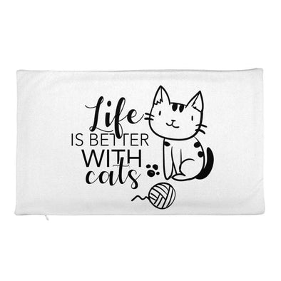 Life Is Better With Cats - Premium Pillow Case only - bonboma