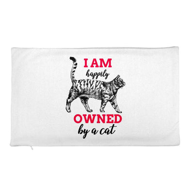 Owned By A Cat - Premium Pillow Case only - bonboma