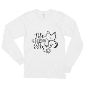 Life Is Better With Cats-Long sleeve t-shirt - bonboma