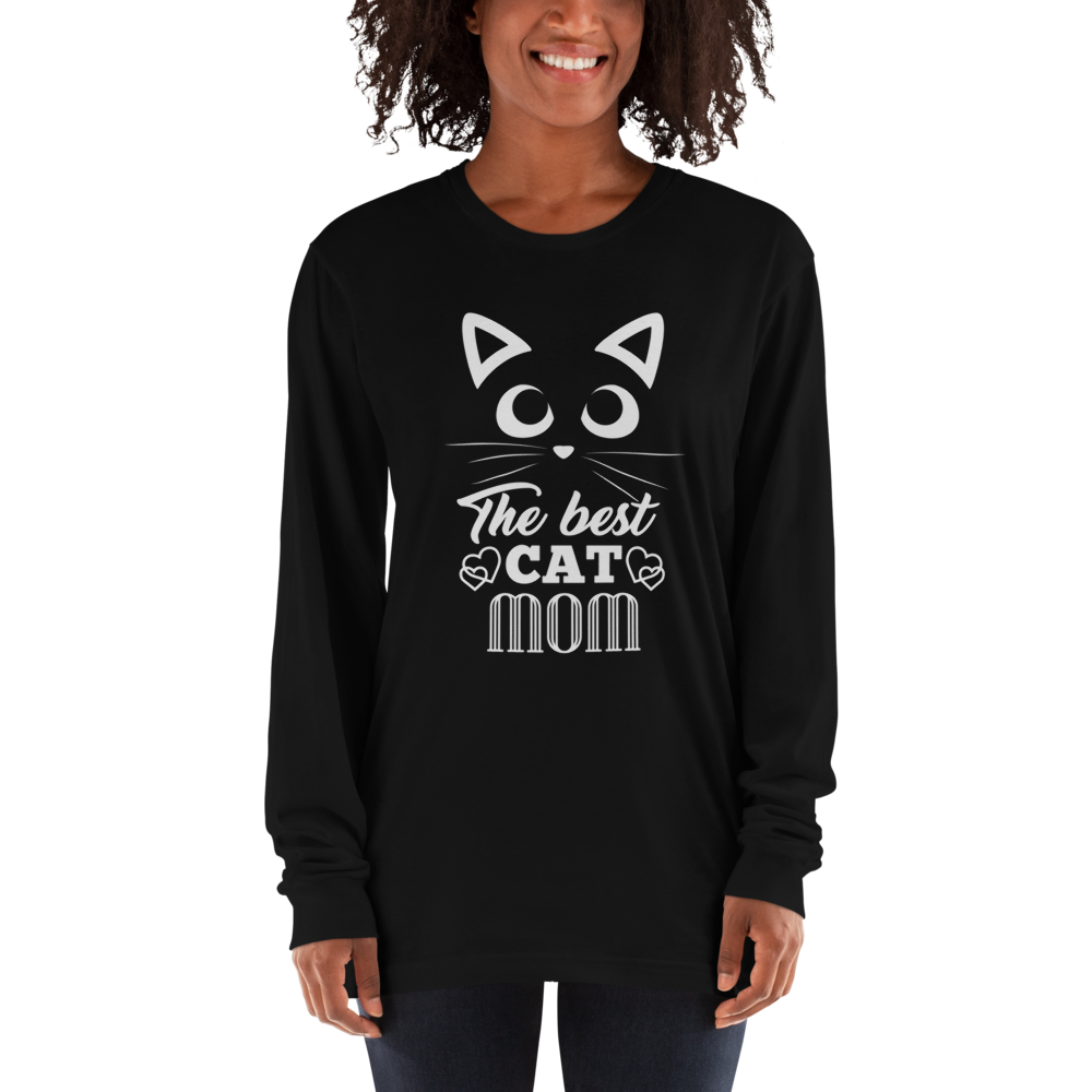 Cat Mom-Long sleeve t-shirt - bonboma
