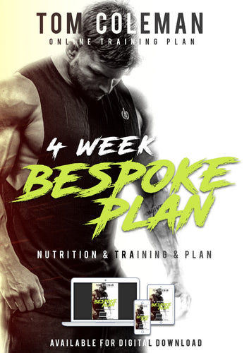 4 Week Bespoke Nutrition & Training Plan
