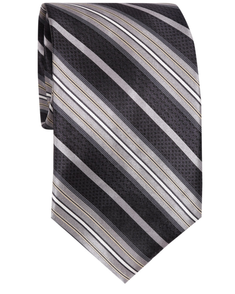 BLACK STRIPE TIE - SILK
