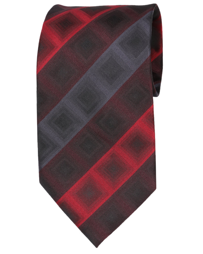 RED STRIPE TIE - POLY