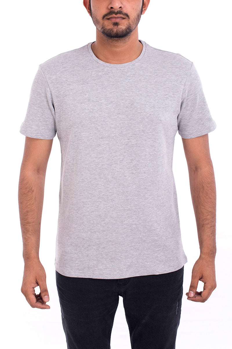 TEE- HEATHER GREY