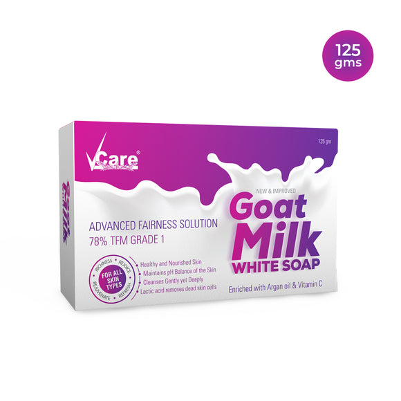 VCare Goat Milk White Soap, 125 gm