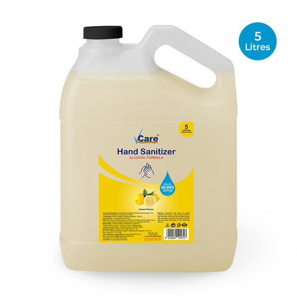 VCare Hand Sanitizer Can, Lemon, 5 Litre