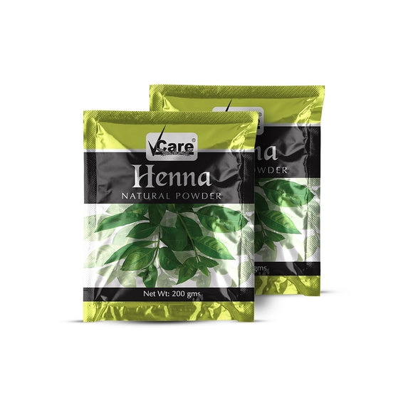 VCare Henna Natural Powder For Hair, 200 gm (Pack of 2)