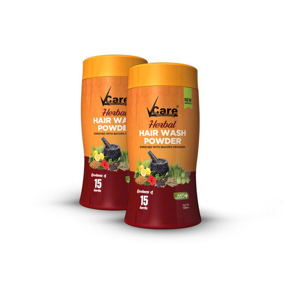 VCare New Improved Herbal Hairwash & Conditioner, 120 gm, (Pack Of 2)