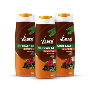 VCare Shikkakai Shampoo, 200 ml, (Pack of 3)