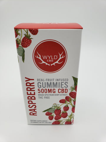 500mg Raspberry WYLD CBD Gummies