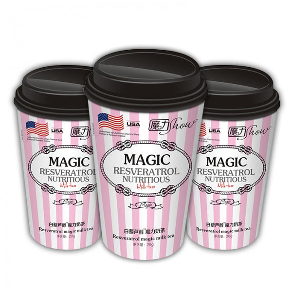 MAGIC SHOW RESVERATROL NUTRITIOUS MILK TEA  (Original Flavor 20g/cup)