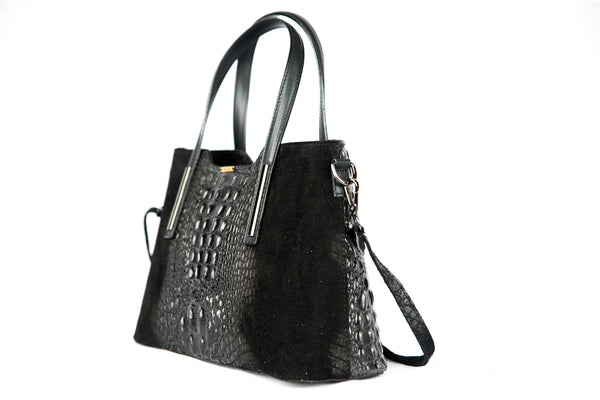 Crocodile embossed leather