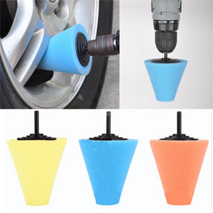 Wheel Buffing Conical Sponge Pad