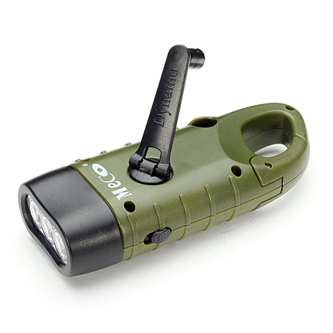 Hand Crank Rechargeable Solar LED Flashlight