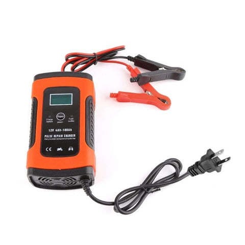 Intelligent Car 12v Battery Charger with LCD Display