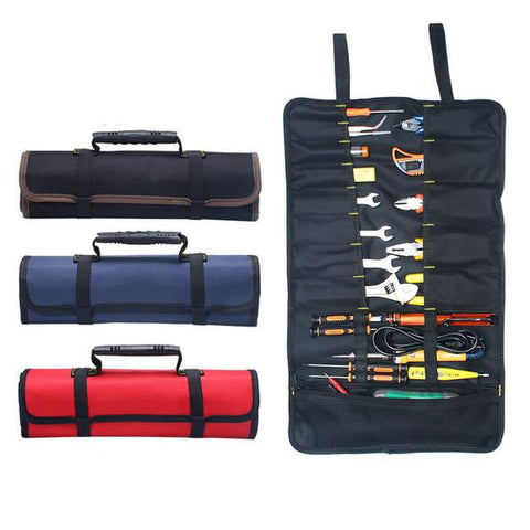 Canvas Tool Storage Roll Bag