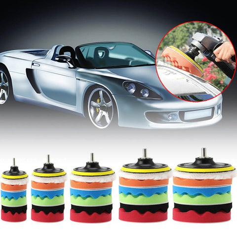 8Pc Rotary Buffing And Waxing Pad Kit