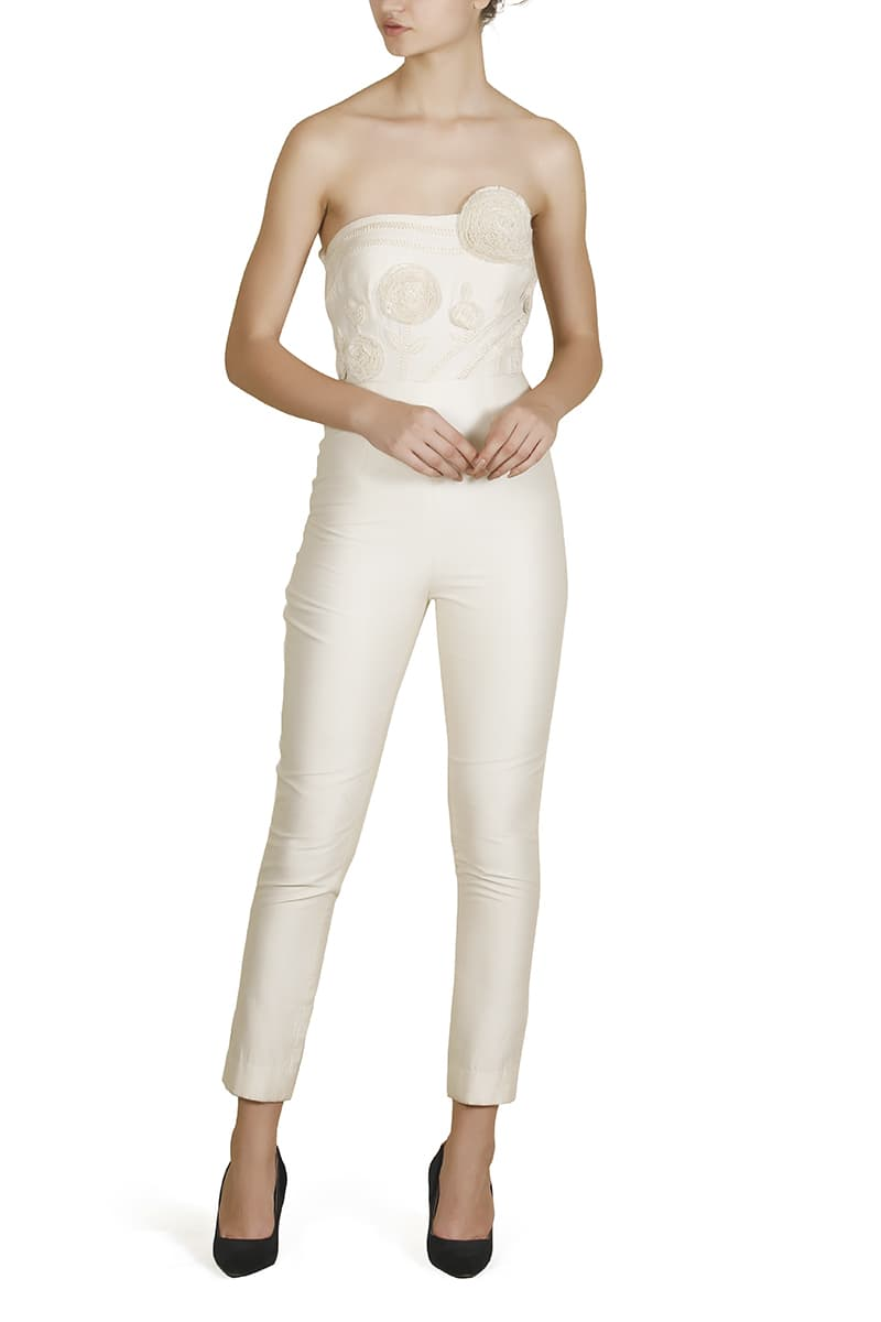 Body-fit Embroidered Jumpsuit