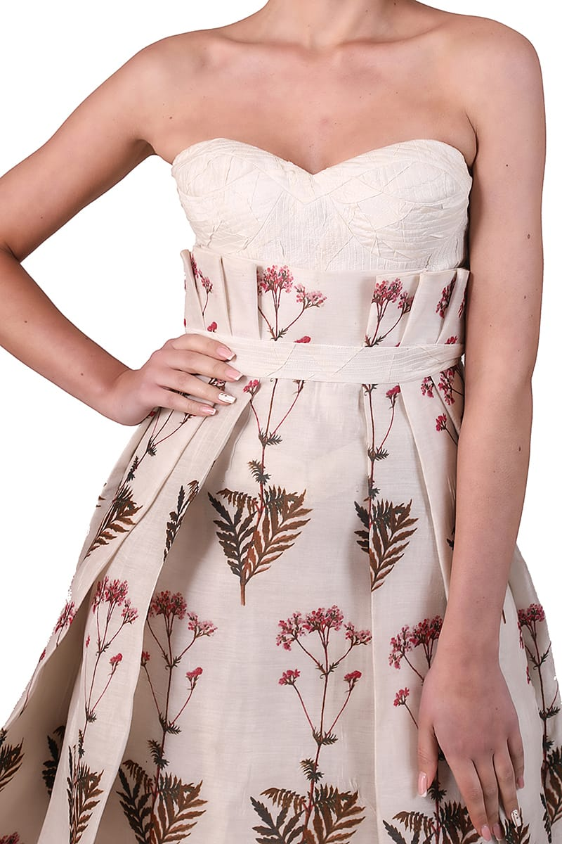 Printed Bustier Gown