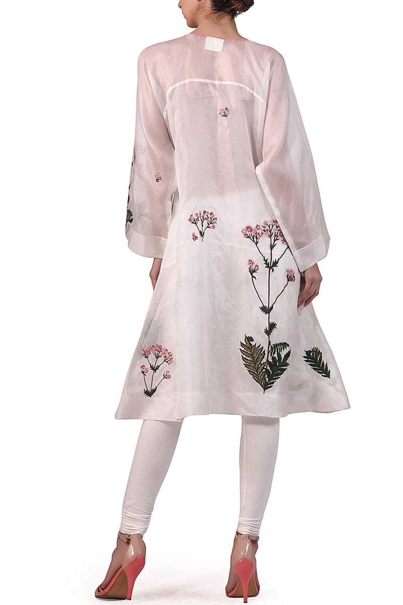 Front-opening Embroidered Kurta
