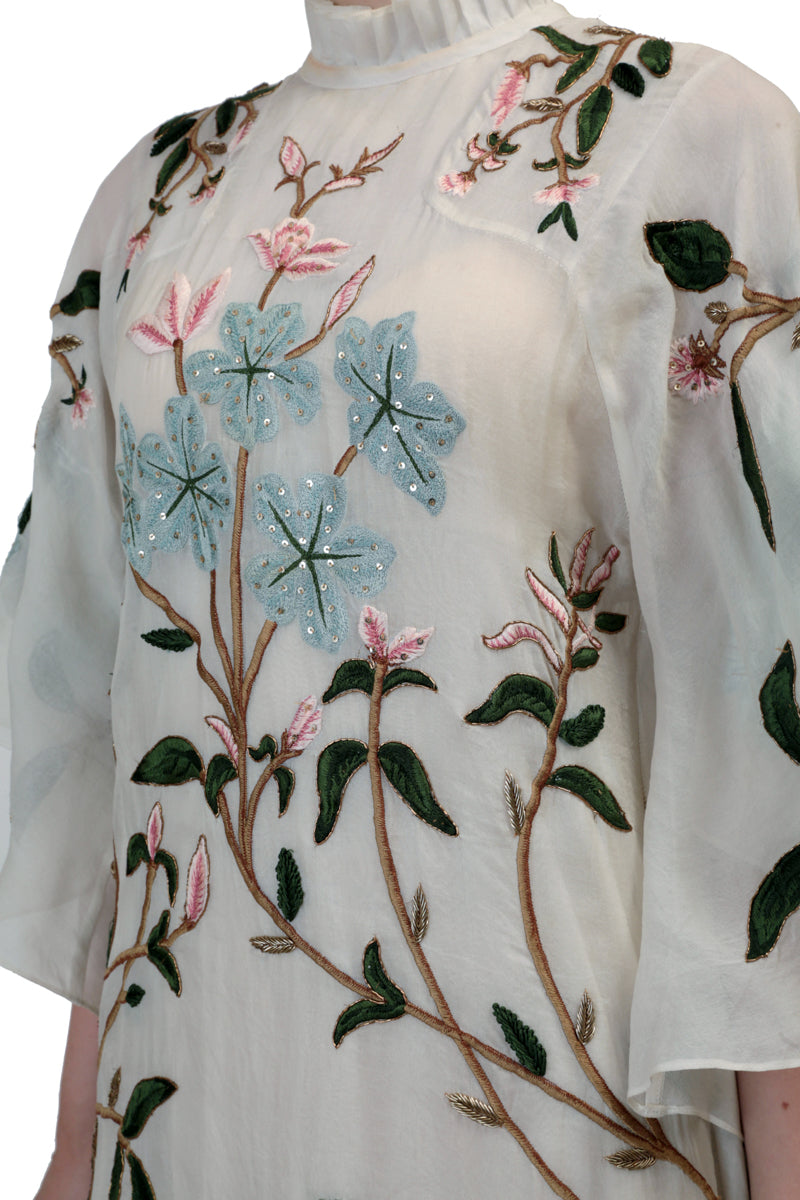 Floral Embroidered Kaftan