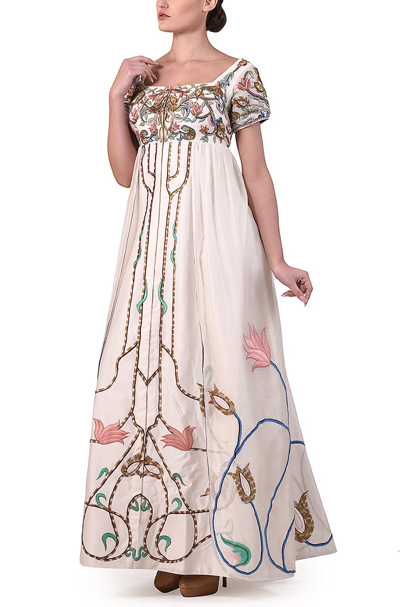 Embroidered Floor-length Gown