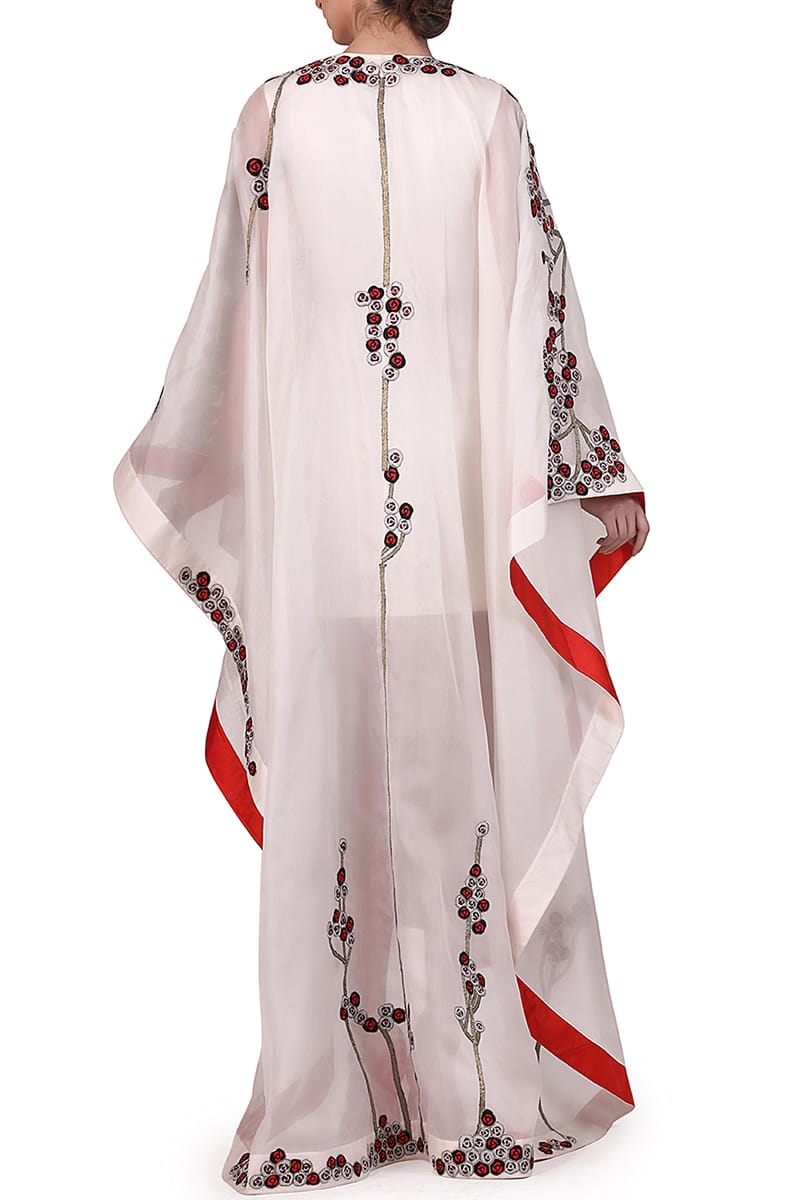 Asymmetric Embroidered Kaftan