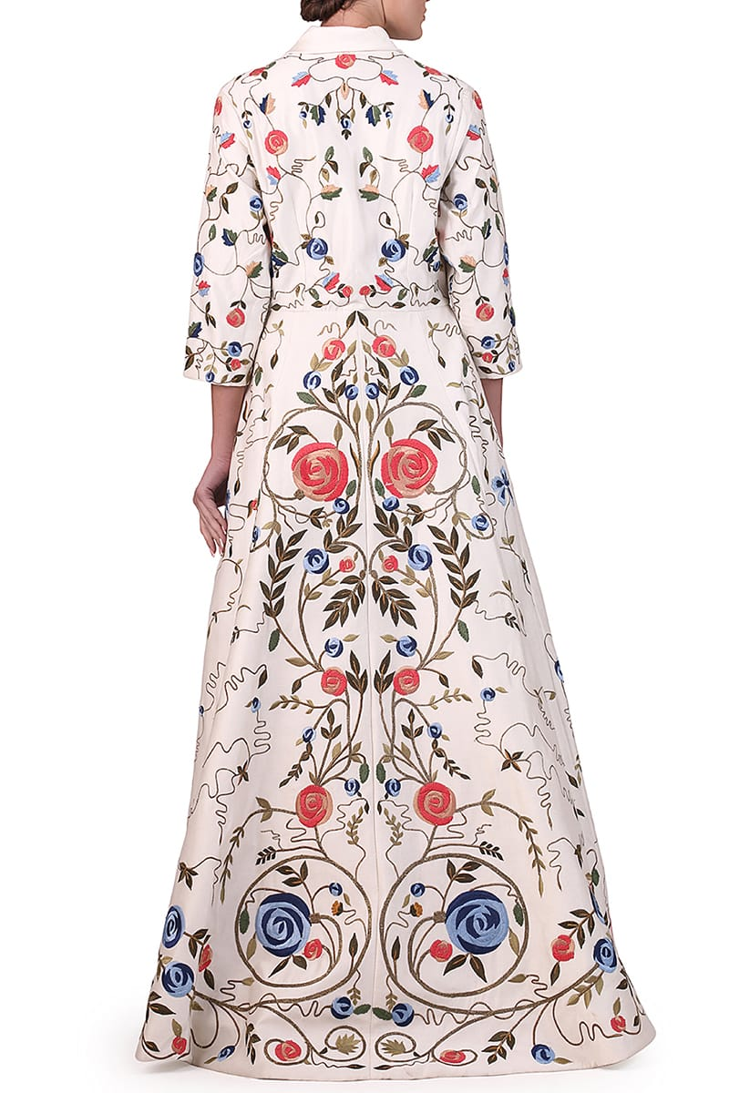 Embroidered Jacket Gown