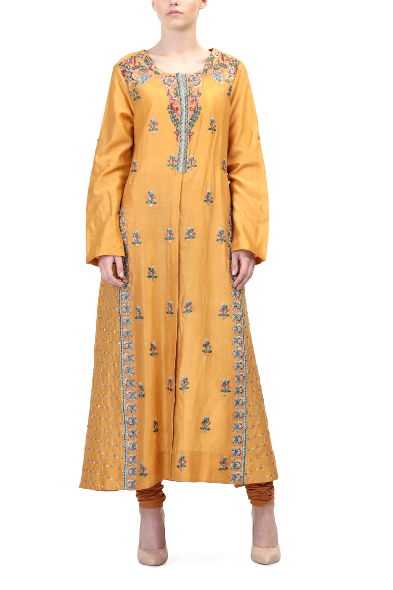 Floral Embroidered Straight Kurta