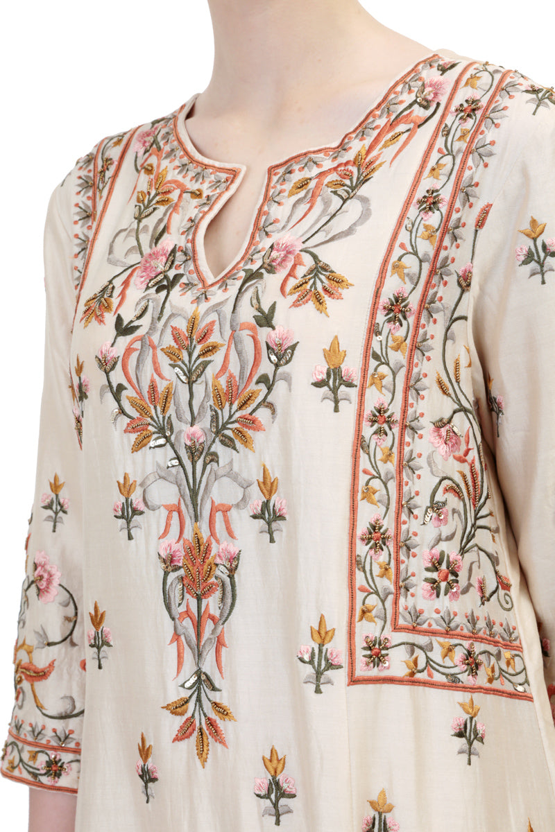 Paneled Long Kurta