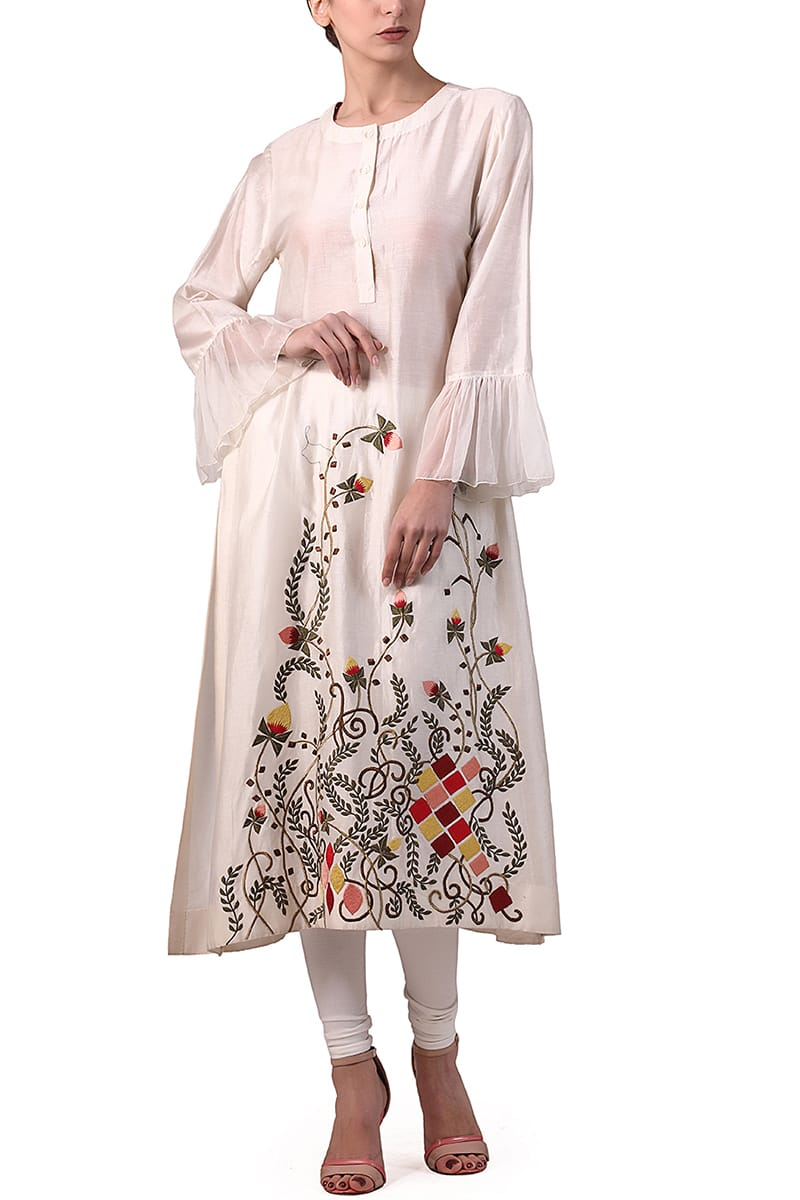 Ruffle Detailed Kurta