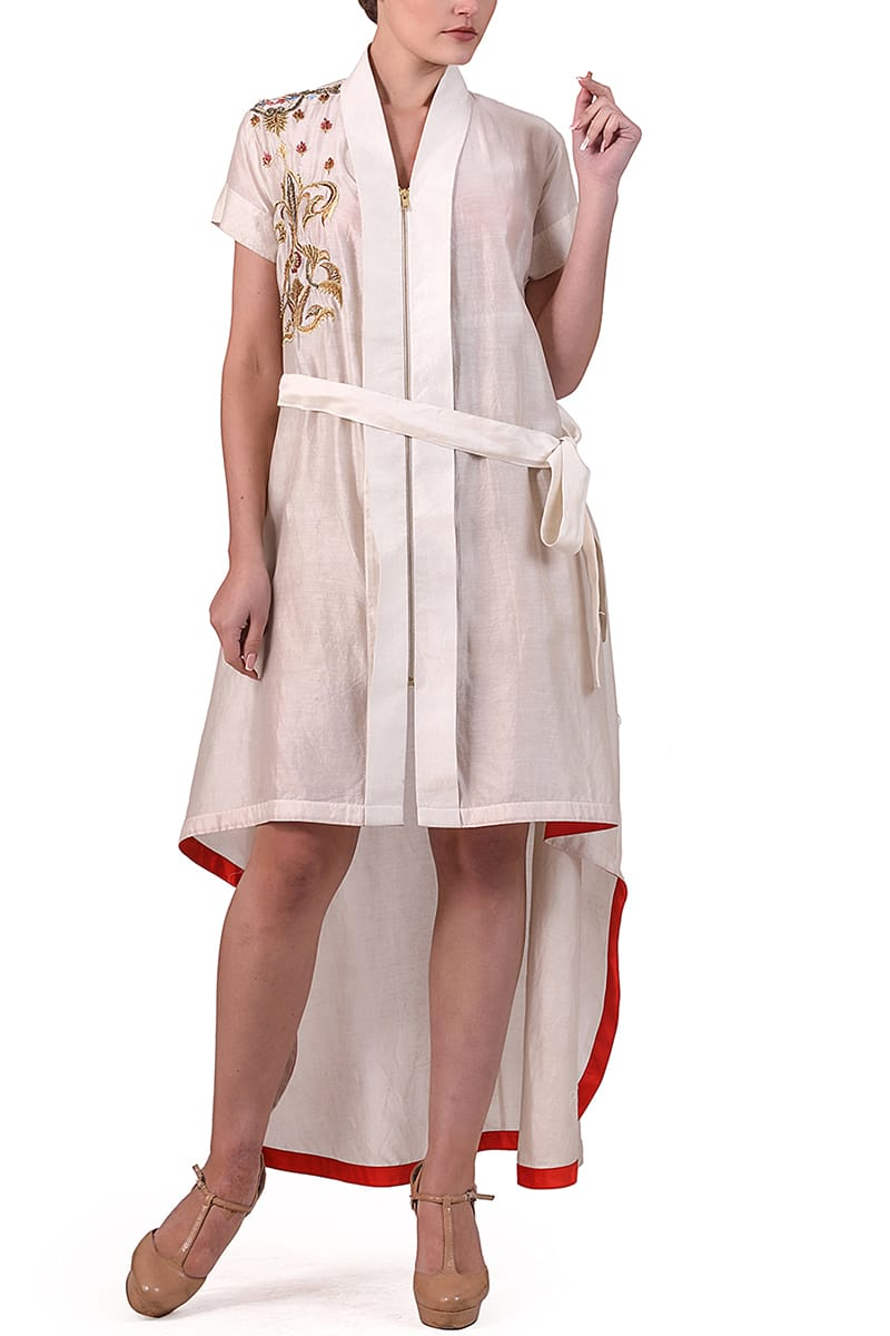 Front Tie-up Asymmetric Dress.