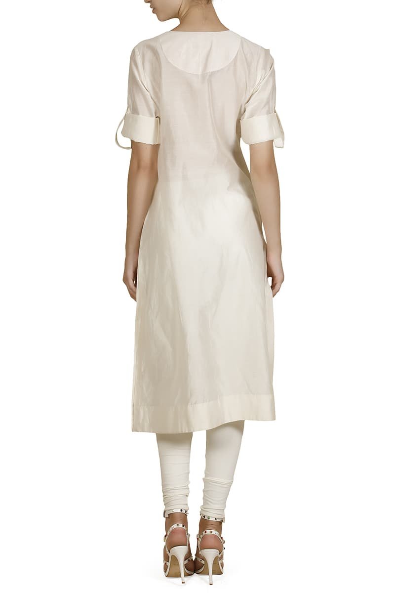 Embroidered Straight-cut Kurta