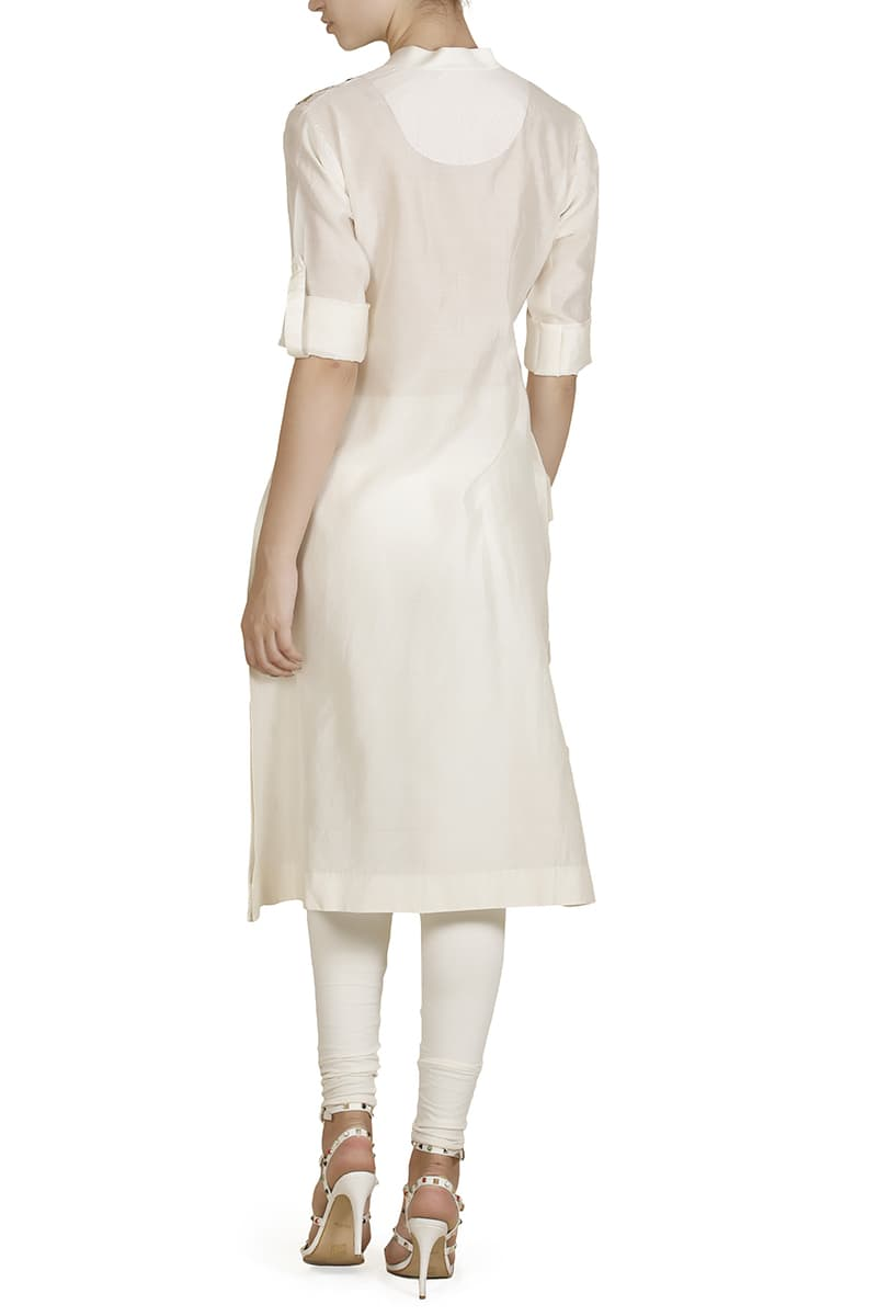 Mandarin-collared Straight Kurta