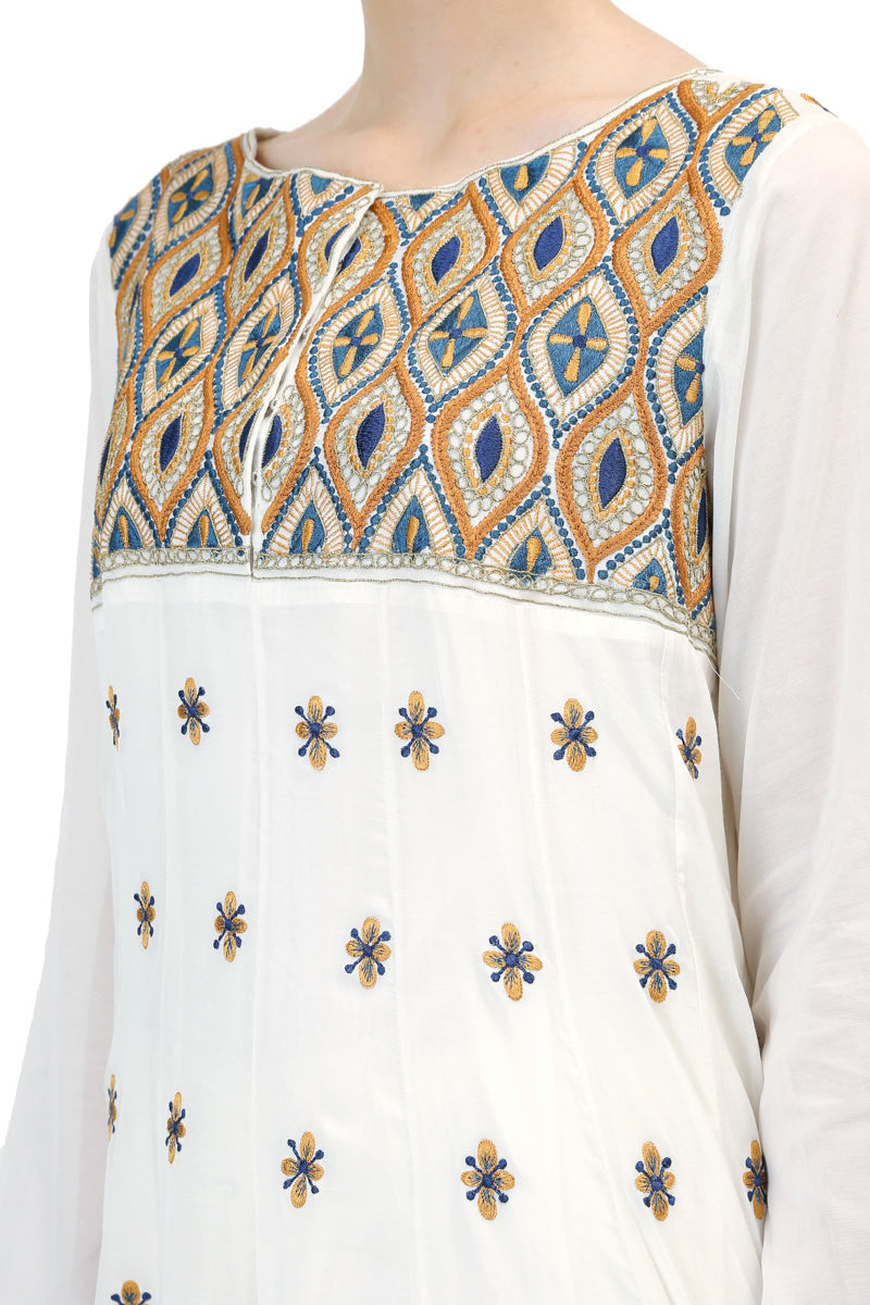 Yoke Embroidered Kurta