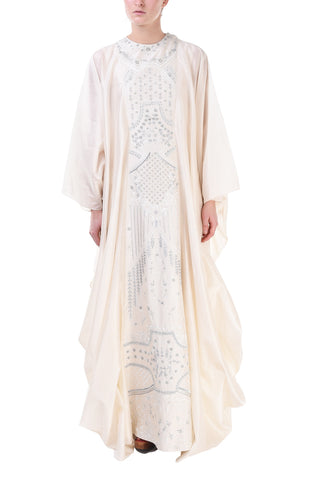 Overlap Gathered Long Dress