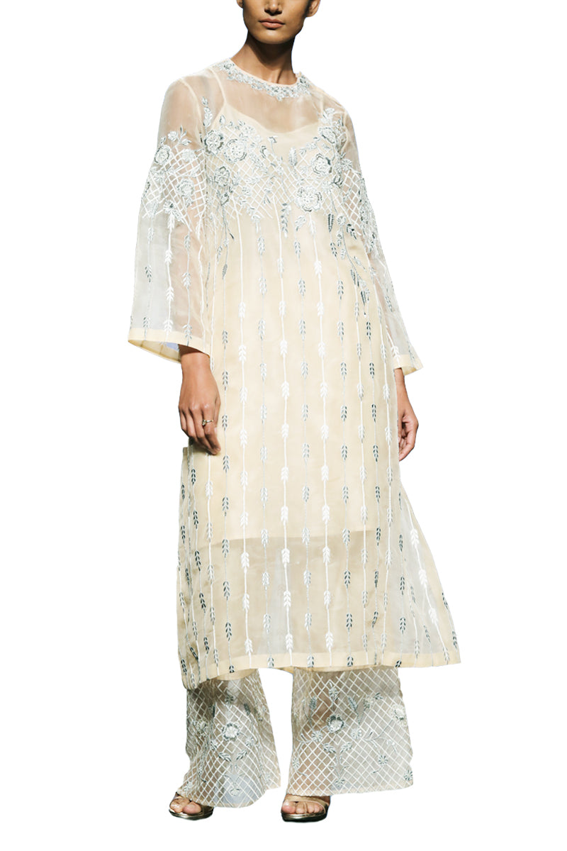 Embroidered Kurta & Pants
