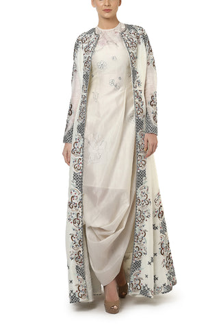Long Embroidered Gown