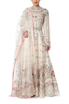 Embroidered Kurta with Chanderi Dupatta