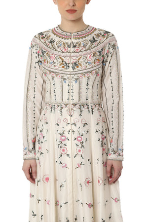 Floral Embroidered Jacket Dress