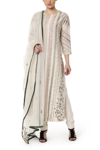 Sleeveless kurta & Skirt