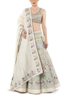 Angrakha Neck Embroidered Gown
