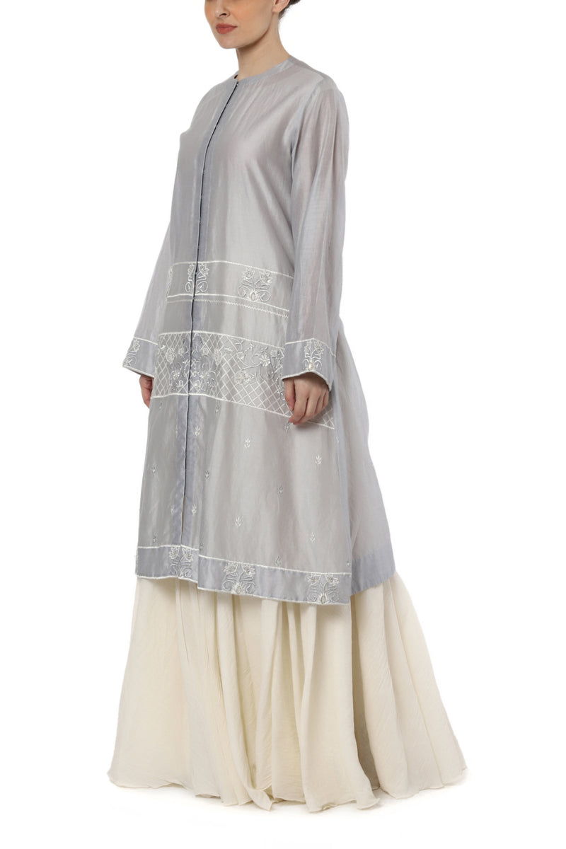 Embroidered Kurta with Slip Dress